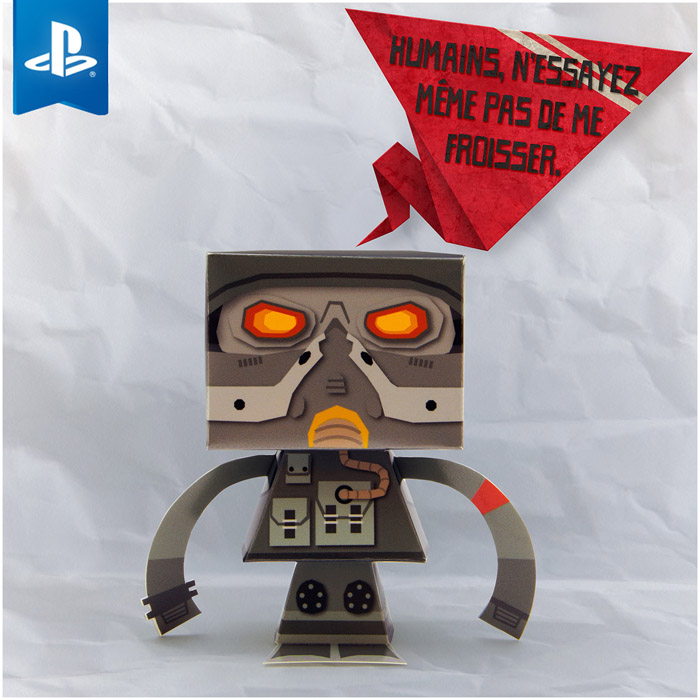 Helghast Killzone paper toy