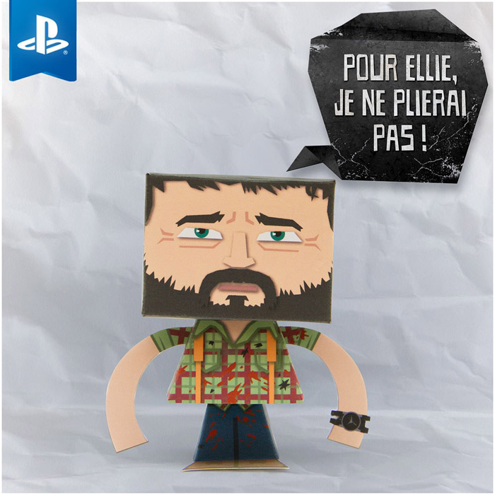 Joel The Last Of Us Paper Toy