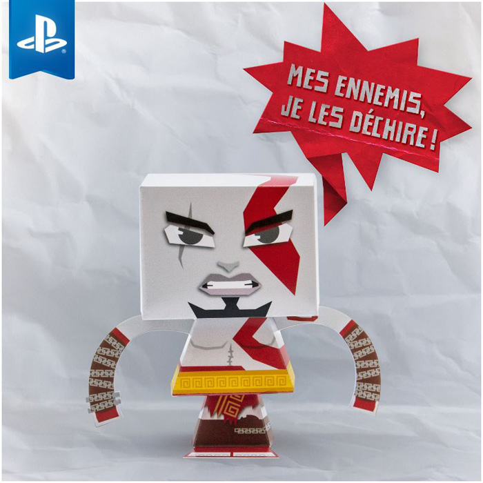 Kratos God Of War paper toy