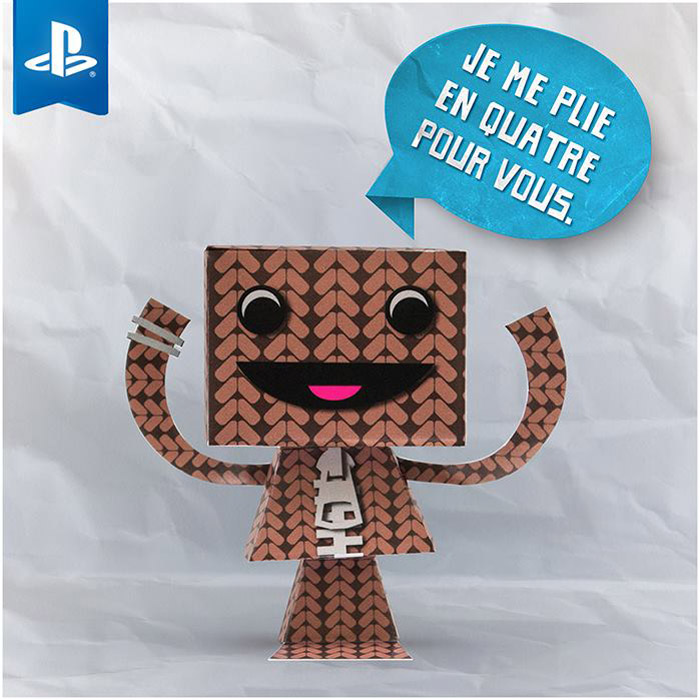 SACKBOY paper toy