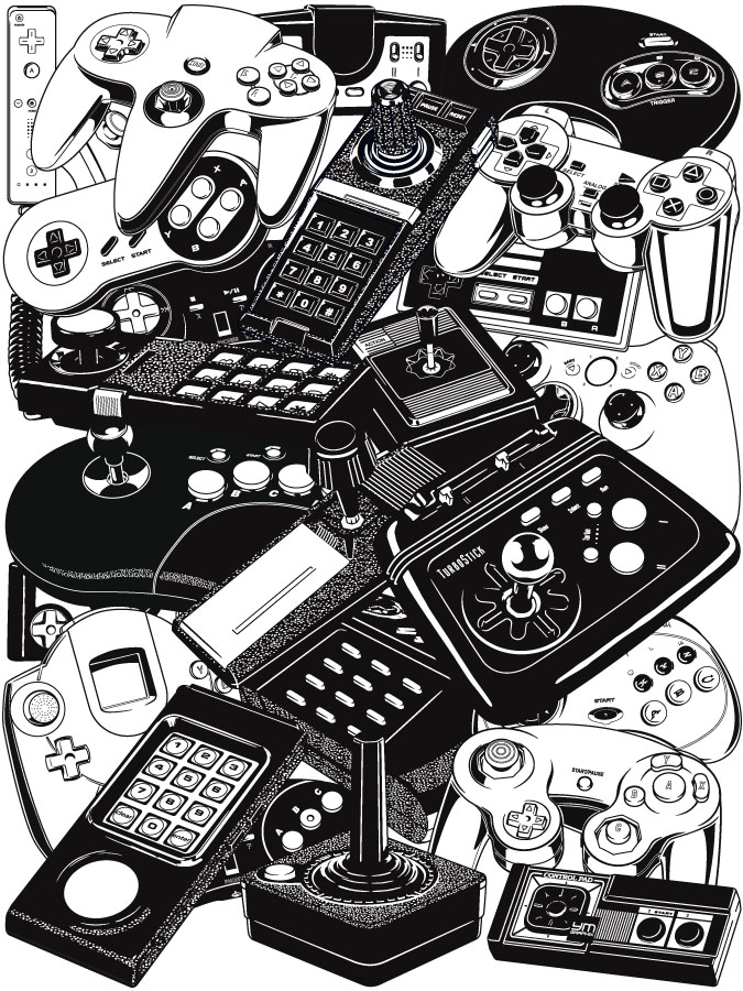 retrogaming joysticks controllers ym graphix graphic designer. Black Bedroom Furniture Sets. Home Design Ideas