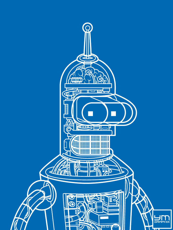 Bender Robot Blueprint