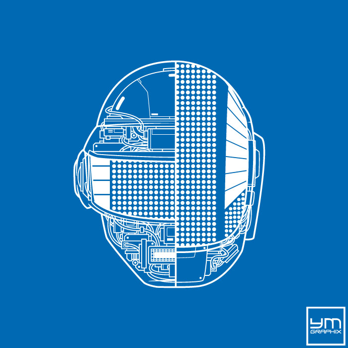 Daft Punk Robot Blueprint