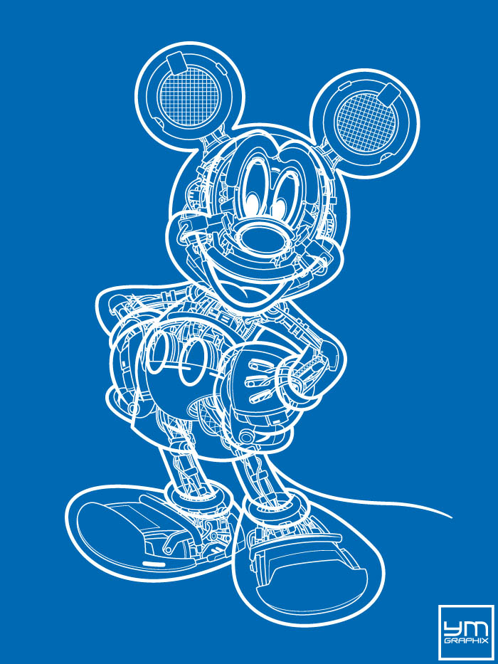 Mickey Mouse Robot Blueprint
